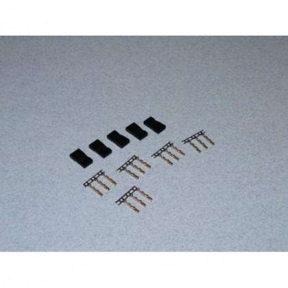 JR Servo Plug Set 5 pcs  o-fs-jrm/05