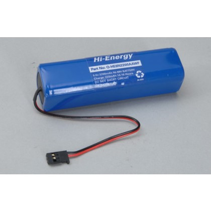 Hi-Energy 9.6v 2200mAh NiMH Tx Pack Square