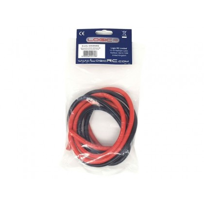 Logic RC Silicone Wire 8AWG 1m Black/1m Red (O-LGL-SW08AWG)