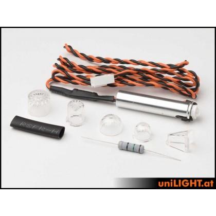 UniLight 10mm PIN Strobe Light 8x2W T-Fuse PIN10F-080x2-RT