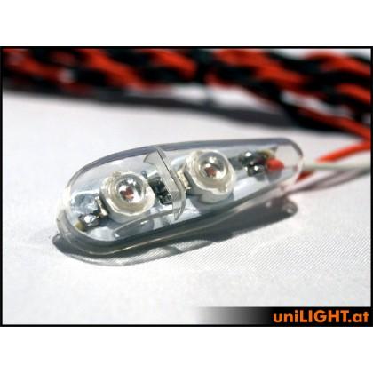 UniLight 8W x 2 Flashlight 11mm Short T-Fuse White PRO11XF-080x2-WE