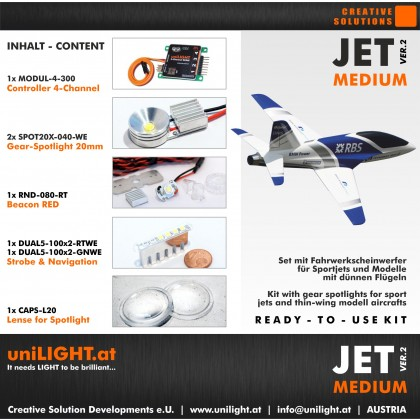 UniLight Jet Medium Lighting Set