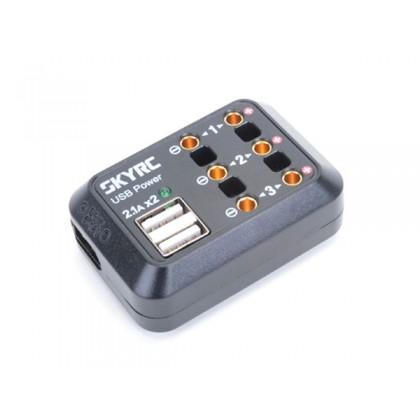 SkyRC 10A DC Power Distributor 3x DC Output + 2x USB - XT60 SK-600114-03