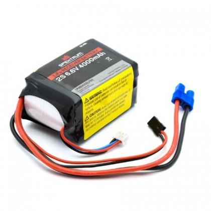 Spektrum 4000mAh 2S 6.6volt Li-Fe Receiver Battery SPMB4000LFRX
