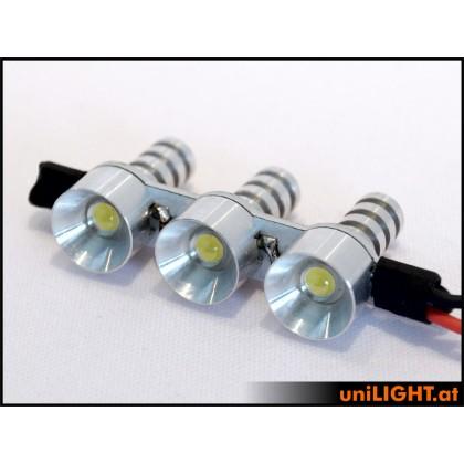 UniLight 2W x 3 Triple Spotlight 12mm White