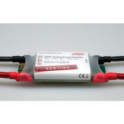 SPS Safety Power Switch 70V 60/120A Battery / ESC Isolator A72006 from Emcotec IRC