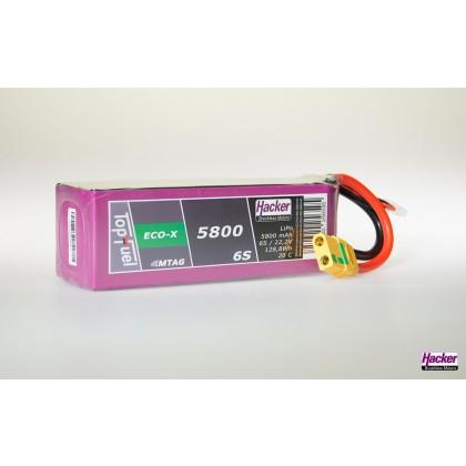 Hacker TopFuel ECO-X 6S 5800mAh 20C LiPo Battery With MTAG
