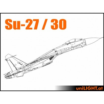 UniLight CARF SUKHOI Su-27, Su-30, Afterburner Scale