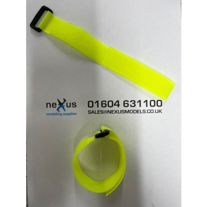 Velcro Battery Strap 300mm with Ring in Yellow