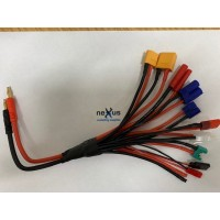 11 x Multi Charge Lead made with Heavy Duty Silicone Wire from Electriflyer