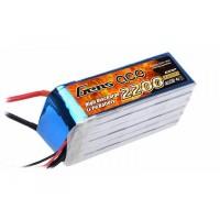 GENS ACE 2200mAh 6S 22.2V 40C Lipo Pack B-40C-2200-6S1P