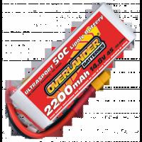 Overlander Ultrasport 2200mAh 4S 14.8v 50C LiPo Battery with XT60 - 3345