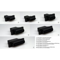 3 Pin Click Connect Multipin Connectors Ideal for Wing or Stab Wiring from IRC Emcotec