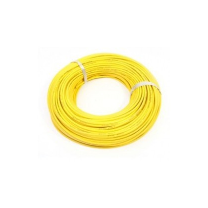 Silicone Wire - 14AWG - Yellow. Sold per 1M length from the reel