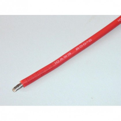 Silicone Wire - 8AWG -RED
