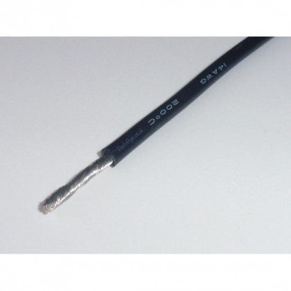 Silicone Wire - 14AWG - Black