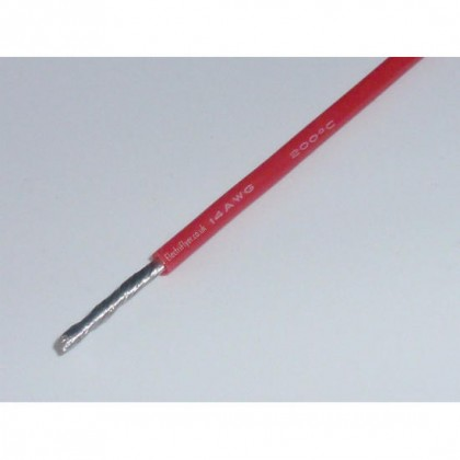 Silicone Wire - 14AWG - Red