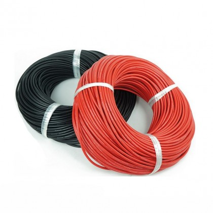 Silicone Wire - 22AWG - Black Sold per 1M length from the reel