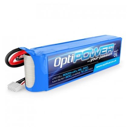 Optipower LiPo Battery 5000mAh 4S 30C OPR50004S