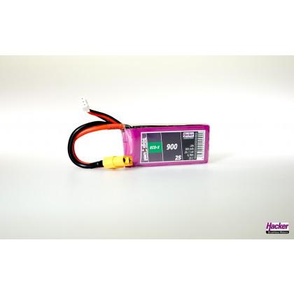 Hacker TopFuel ECO-X 2S 900mAh 25C LiPo Battery XT60 90900241