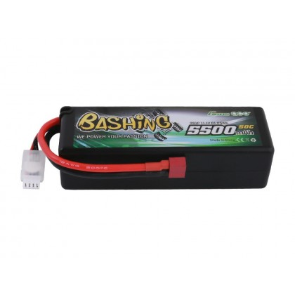 Gens Ace LiPo Car Hard Case 3S 11.1V 5500mAh 50C Bashing with T-Type GC3S5500-50T