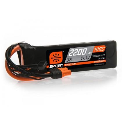 Spektrum 2200mAh 3S 11.1V 100C Smart LiPo Battery IC3 SPMX22003S100