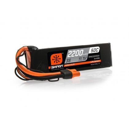 Spektrum 2200mAh 3S 11.1V 50C Smart LiPo Battery IC3 SPMX22003S50