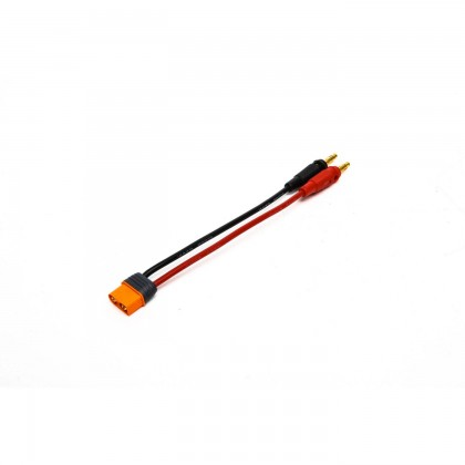 """Spektrum IC3 Device Charge Lead 6"""" 13 AWG / 4mm Bullets SPMXCA304"""