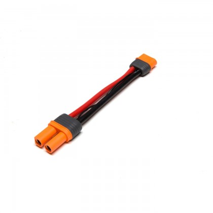 """Spektrum IC5 Battery Connector to IC3 Device 4"""" / 100mm 10 AWG SPMXCA508"""