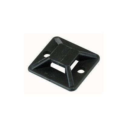 Cable Tie Adhesive Base Black (10 Pack)