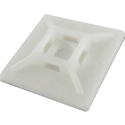 Cable Tie Adhesive Base White (10 Pack)