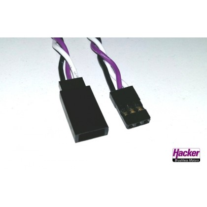 Hacker Ditex Servo Extension Lead 0.32mm x 50cm 50023050