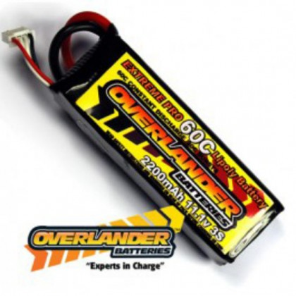 2200mAh 3S 11.1v 80C EXTREME PRO Lipo Battery from Overlander Deans