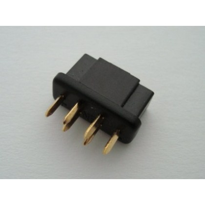 MPX 6 Pin Connector Black Female High Current