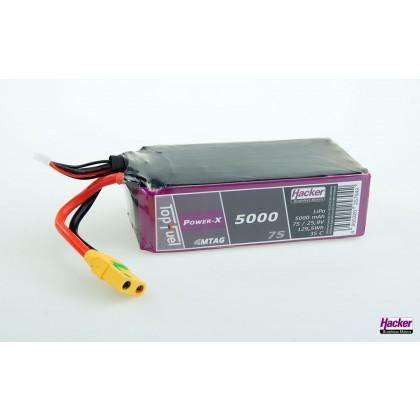 Hacker TopFuel Power-X 7S 5000mAh MTAG 35C LiPo Battery 95000761