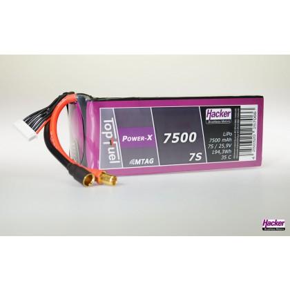 Hacker TopFuel Power-X 7S 7500mAh MTAG 35C LiPo Battery 97500761