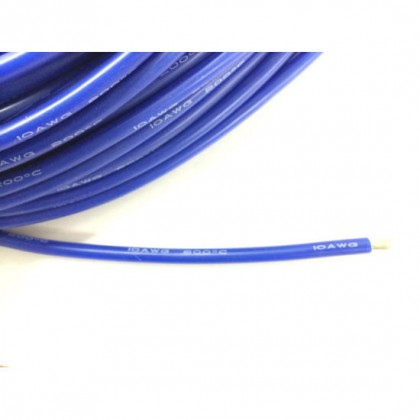 Silicone Wire - 10AWG - Blue