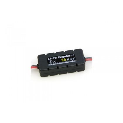 Etronix LiPo Regulator 6.0v 5A W/Casing 20x14x49mm