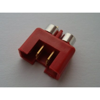 MPX Connector Red - Male with Rings High Current