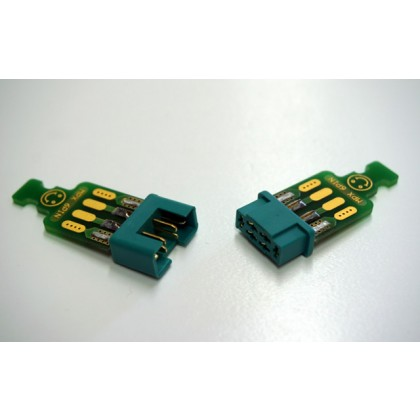 Emcotec MPX 6 pins with connector soldered to PCB 2 pairs A86010/2331