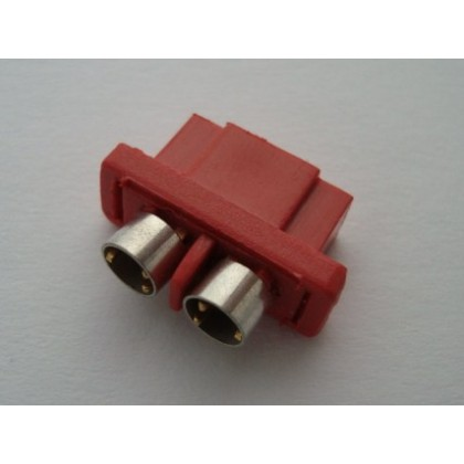 MPX Connector Red - Female with Rings High Current