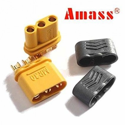 MR30 Connector Set Male and Female One Pair  by Amass