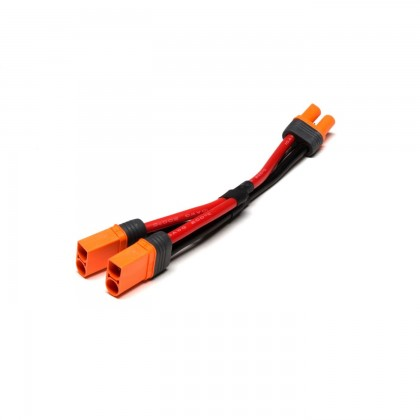 """Spektrum IC5 Battery Parallel Y-Harness with 6""""/150mm Wire 10 AWG SPMXCA509"""