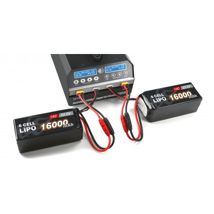 SkyRC PC1080 Dual AC Mains Charger for 6s Lipo Batteries SK-100124