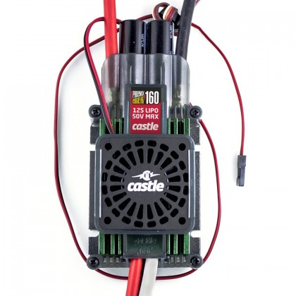 Castle Phoenix Edge HVF 160 Amp ESC 3s to 12S / 50.4V No BEC with Cooling Fan from Castle Creations P-CC12700
