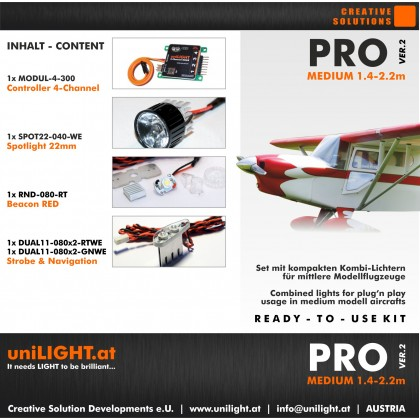UniLight Pro Medium Lighting Set