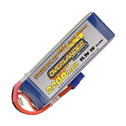2200mAh 3S 11.1v 35C Supersport Lipo Battery from Overlander EC3 Connector 2647