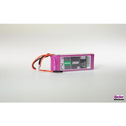 Hacker TopFuel LiPo 5C ECO-RX 2000mAh 7.4v 2 Cell LiPo Battery 92000236