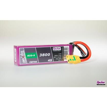 Hacker TopFuel ECO-X 3800mAh 4S MTAG 20C LiPo Battery