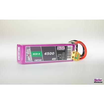 TopFuel LiPo 20C ECO-X 4500mAh 4S MTAG from Hacker 94500431